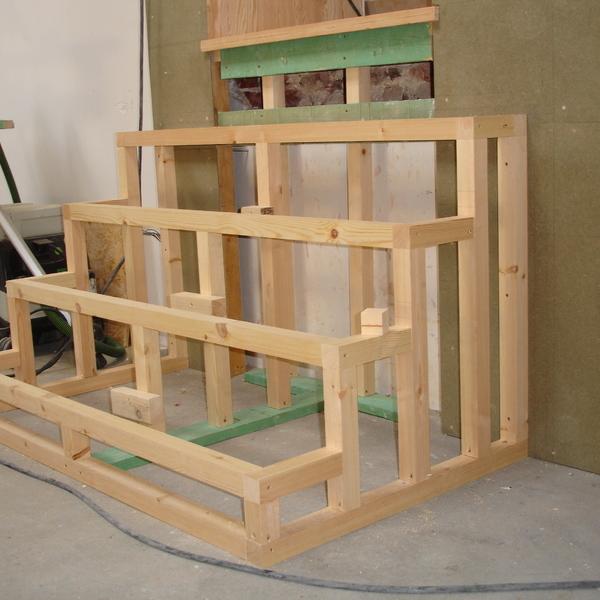Réalisation de demi niveau avec escaliers