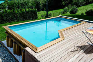 Belgeonne design piscine + terrasse bois